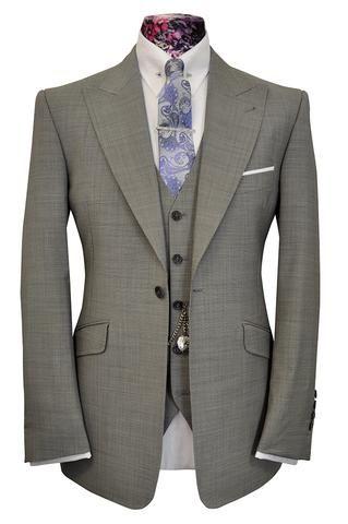 William Hunt Savile Row The Morgan Classic Dove Grey 3 piece Suit