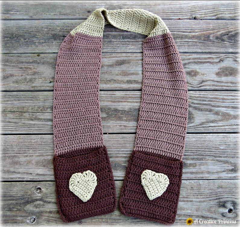 A Creative Princess: Crocheted Pocket Scarf | Loom / Knitting ...