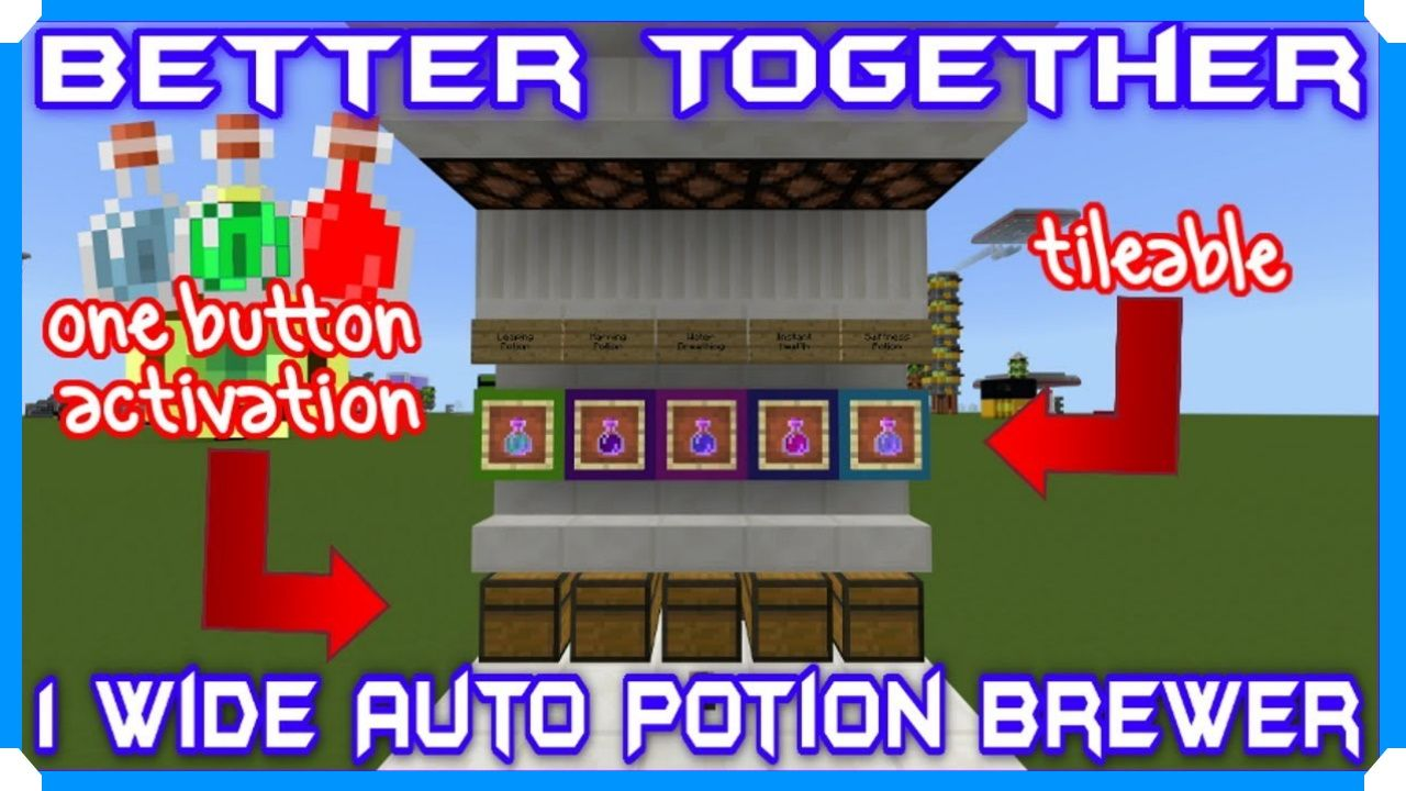 How To Build 1Wide Tileable Automatic Potion Brewing