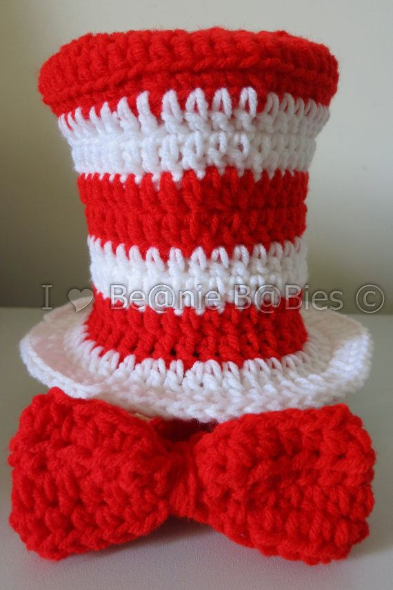 Dr+Seuss+inspired+the+cat+in+the+hat+Top+Hat+by+Iheartbeaniebabies ...