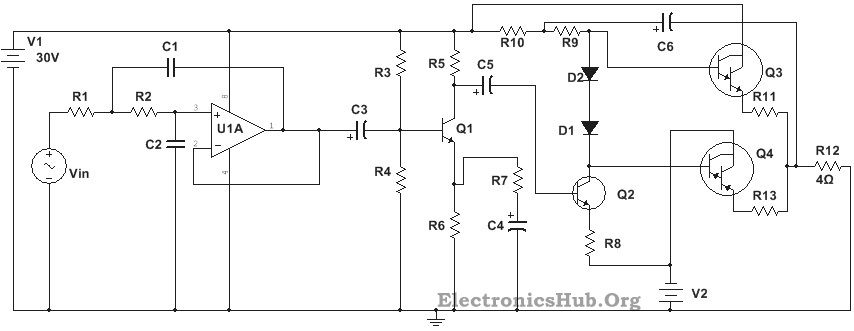 100W Subwoofer Amplifier Circuit | Electronics and Computers