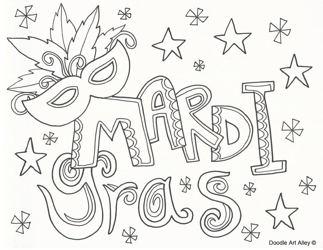 Picture | Doodlin\'-Coloring Pages | Pinterest | Mardi gras, Adult ...