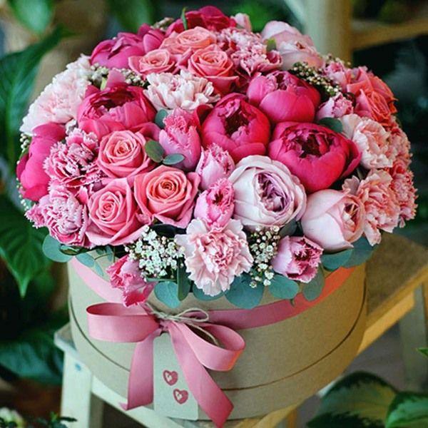в коробке цветы фото
