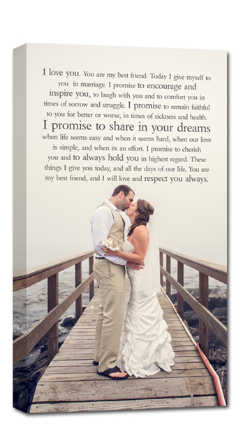 Your Wedding Portrait Photo And Your Wedding Vows Or First Dance