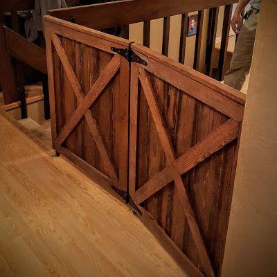 The Butcher S Block Woodwork Double Barn Door Baby Gate Because