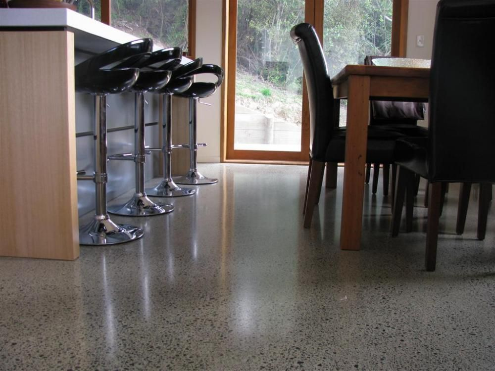 Polished Concrete And Timber Floors
