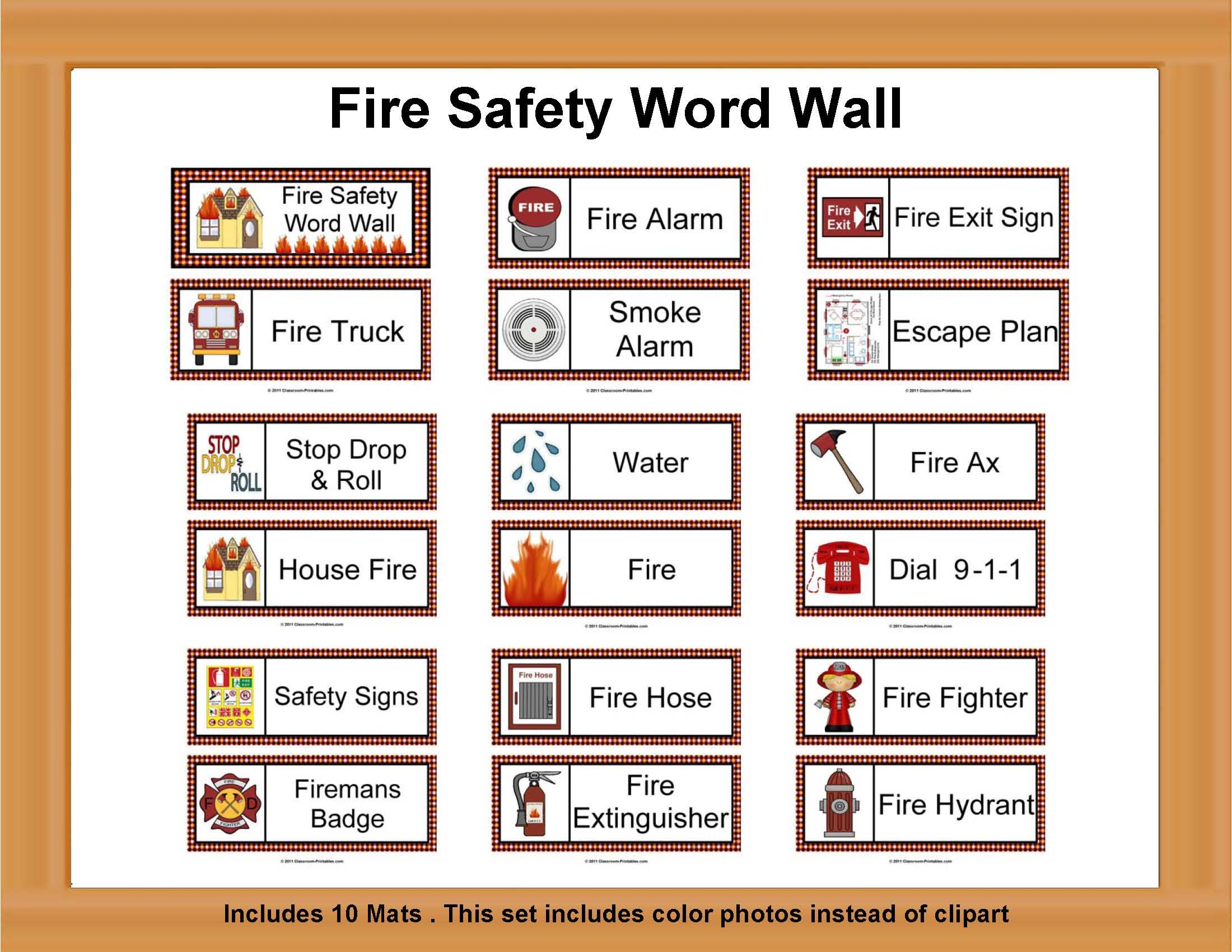 Fire Safety Word Wall