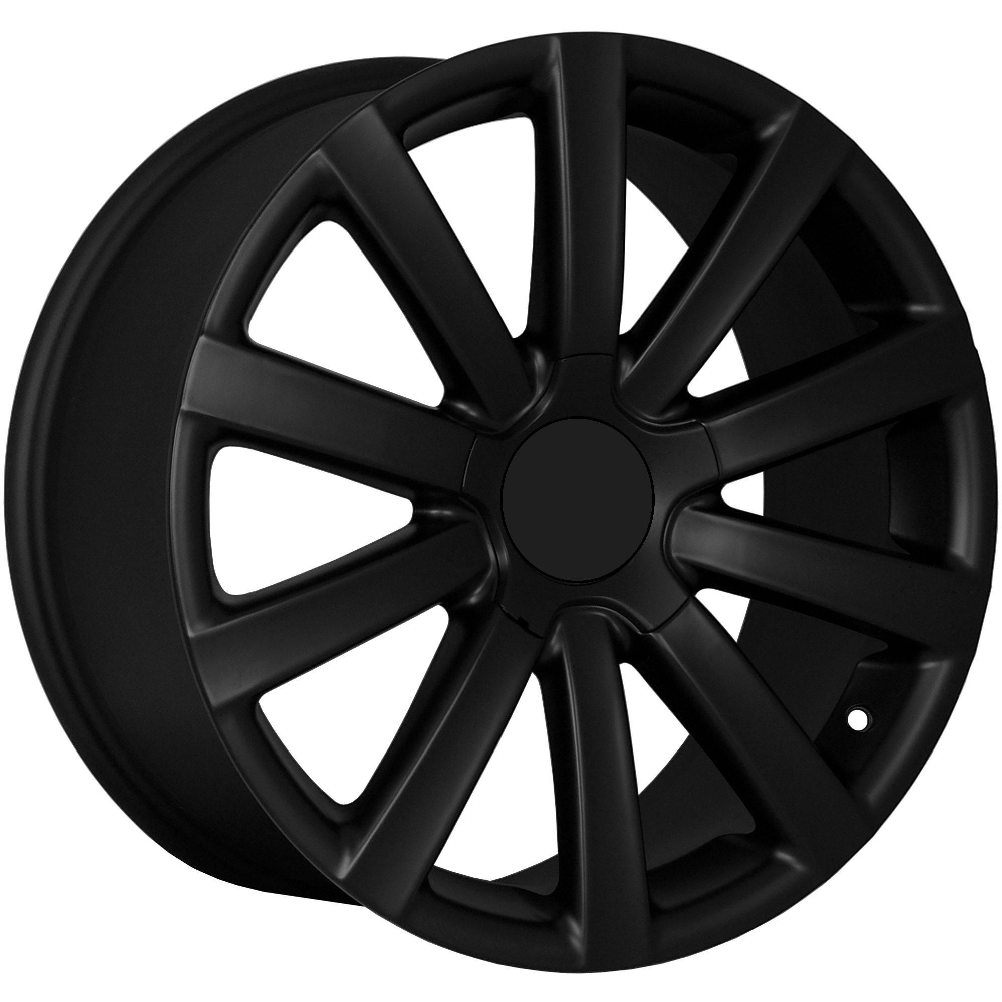 18 vw r32 matte black wheels rims fit vw jetta mkv mkvi. Black Bedroom Furniture Sets. Home Design Ideas