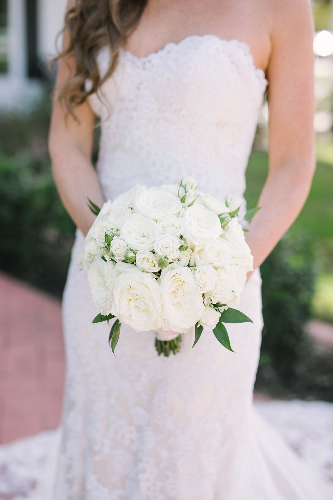 Wedding Venue Rockwall Manor White Rose Wedding Bouquet White