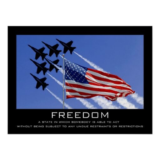 Freedom Poster | Zazzle.com #americanflag