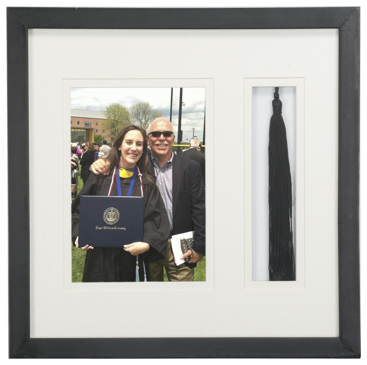 5 x 7 Graduation Picture Frame for Wall, Matted with Tassel Holder ...