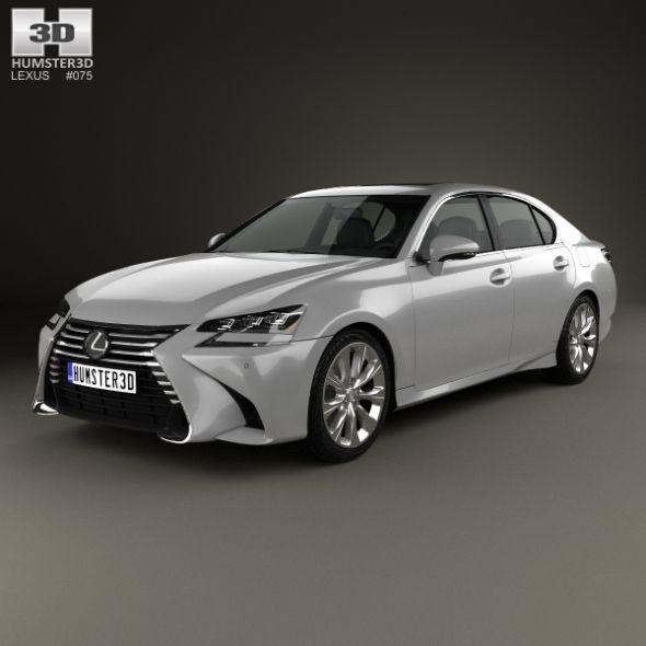 Lexus Gs F Sport 2015 3d Model: Lexus GS 350 2015