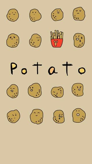 Potato Wallpaper Cute Potato Cute Patterns Wallpaper Wallpaper Iphone Cute