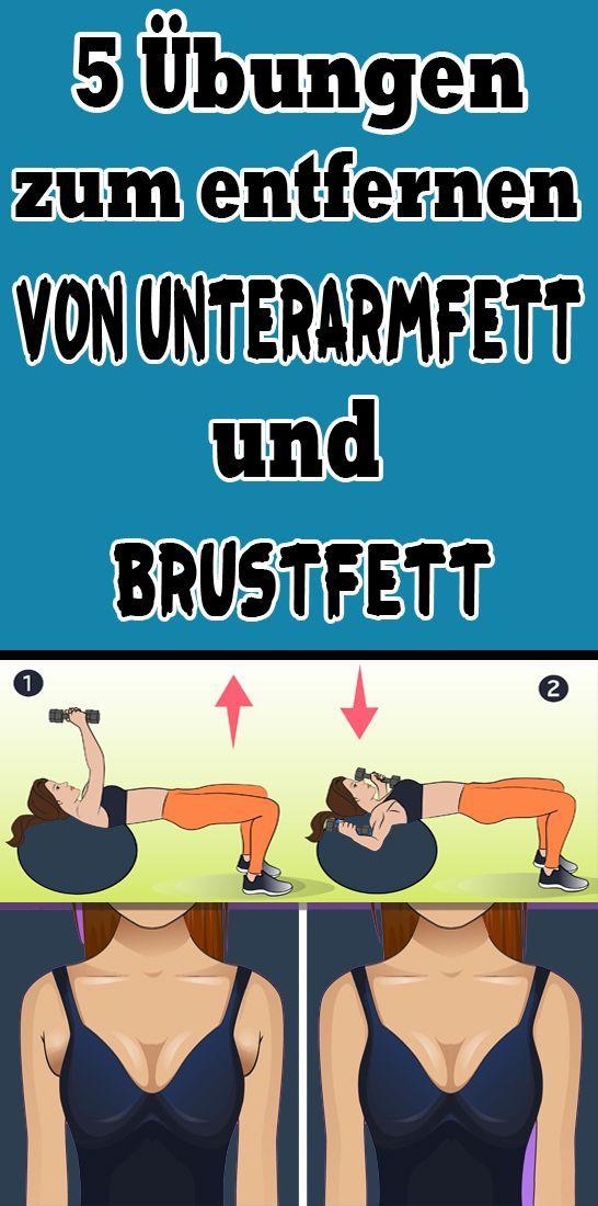 5 Übungen zum Entfernen von Unterarmfett und Brustfett  - Gesundheit und fitness - #Brustfett #entfe...