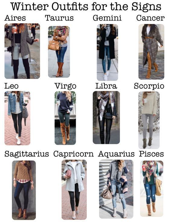 Zodiac Signs Outfits Winter , Zodiac Signs Outfits