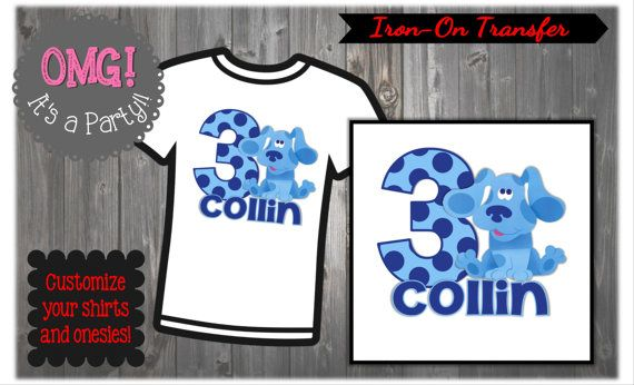 Blues Clues Birthday Shirt Printable Blues Clues by OMGItsAParty