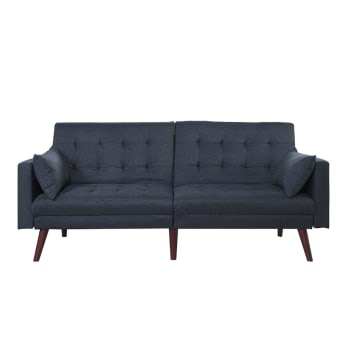 Pleasing This Modern Mid Century Sleeper Sofa Bed In Dark Blue Black Creativecarmelina Interior Chair Design Creativecarmelinacom