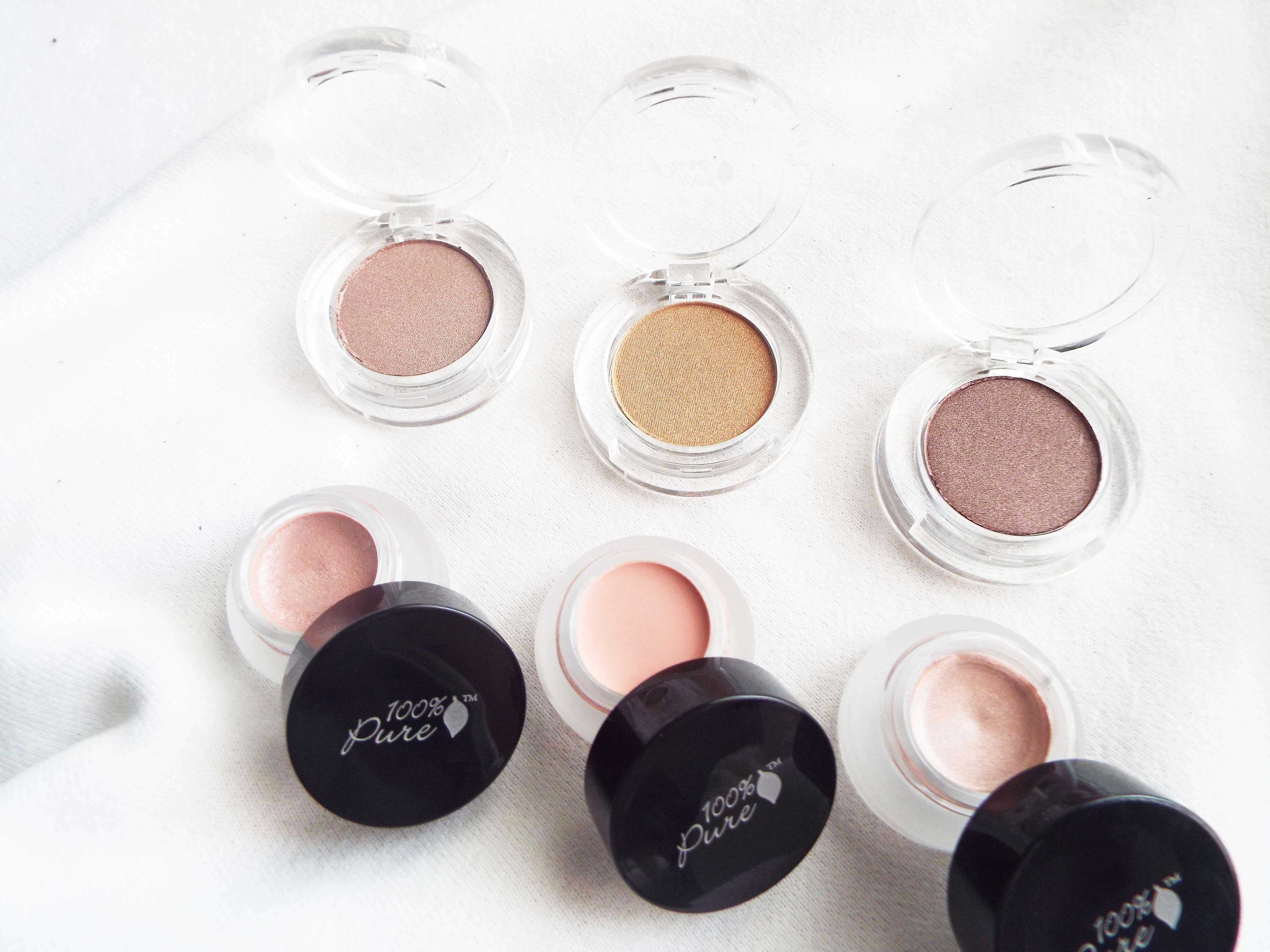 100 Percent Pure Eyeshadows & Blushes Organic Beauty