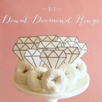 DIY Donut Diamond Rings Food Pinterest Diy donuts Bridal