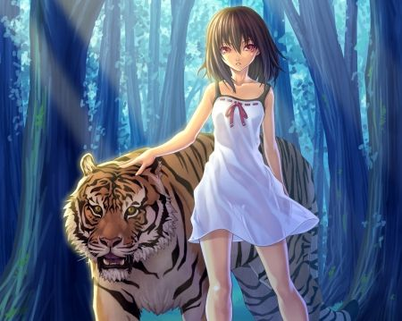 Pin On Tiger And Girl