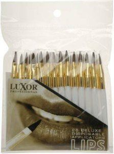 Luxor Professional Deluxe Applicators for Lips - (02-PPS) 25 Pieces by Luxor Professional. $4.99. Buy Luxor Professional Makeup Brushes Applicators - Hygienic. Sanitary. Disposable. Professional.The price makes it disposable, the quality makes it indispensable.