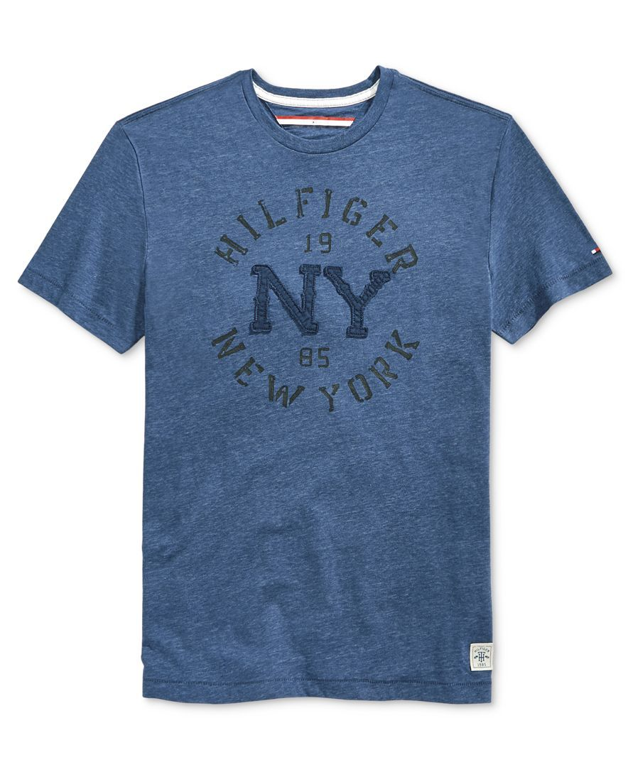525c554b931a Tommy Hilfiger Men s Denim Curve Graphic-Print T-Shirt