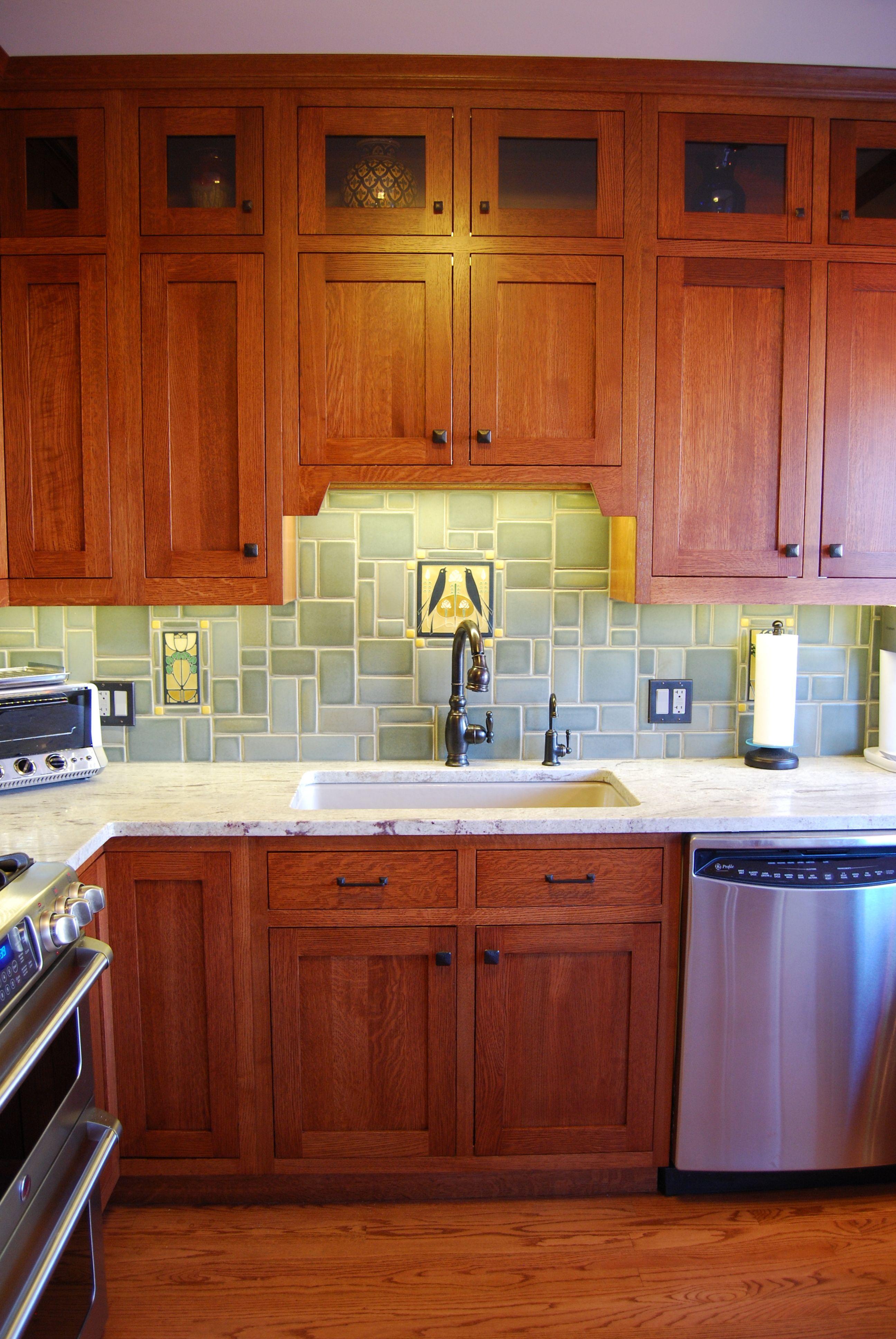 2Tier Inset Quarter Sawn Oak Kitchen Craftsman kitchen