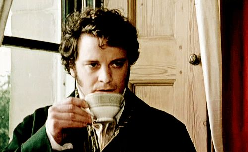 Mr Darcy taking tea.