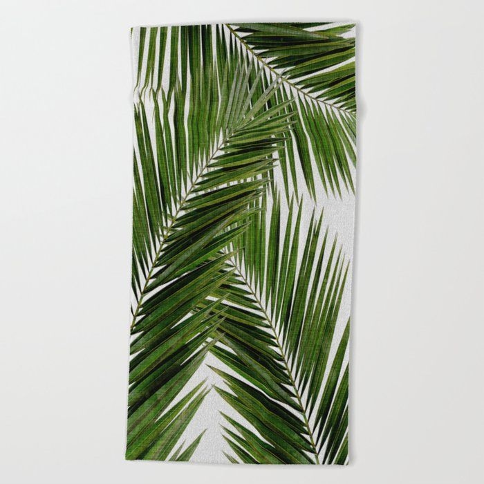 Palm Leaf Iii Oversized Beach Towel by Orara Studi