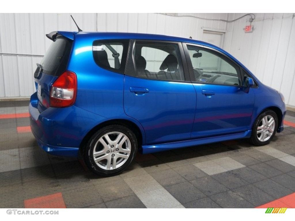 2008 Fit Sport Vivid Blue Pearl / Black/Grey photo 7