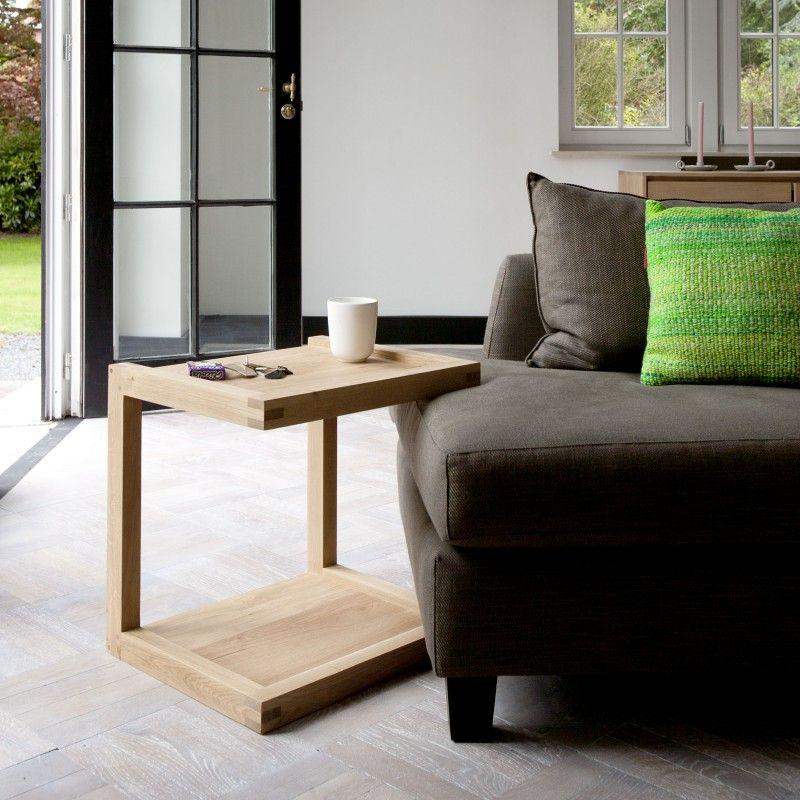 Oak Frame Sofa Beistelltisch Von Ethnicraft. Vielseitiger Tisch: Als  Couchtisch Fürs Laptop Oder Als Graziler Nachttisch Am Bett: ...