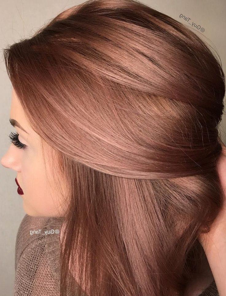 """27 Ideen in Roségold-Haarfarbe, mit denen Sie sagen: """"Wow!"""" - Samantha Fashion Life #hairideas"""
