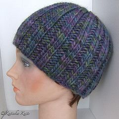 3d6490260 Basic, ribbed hat with a specific decrease pattern at the crown ...