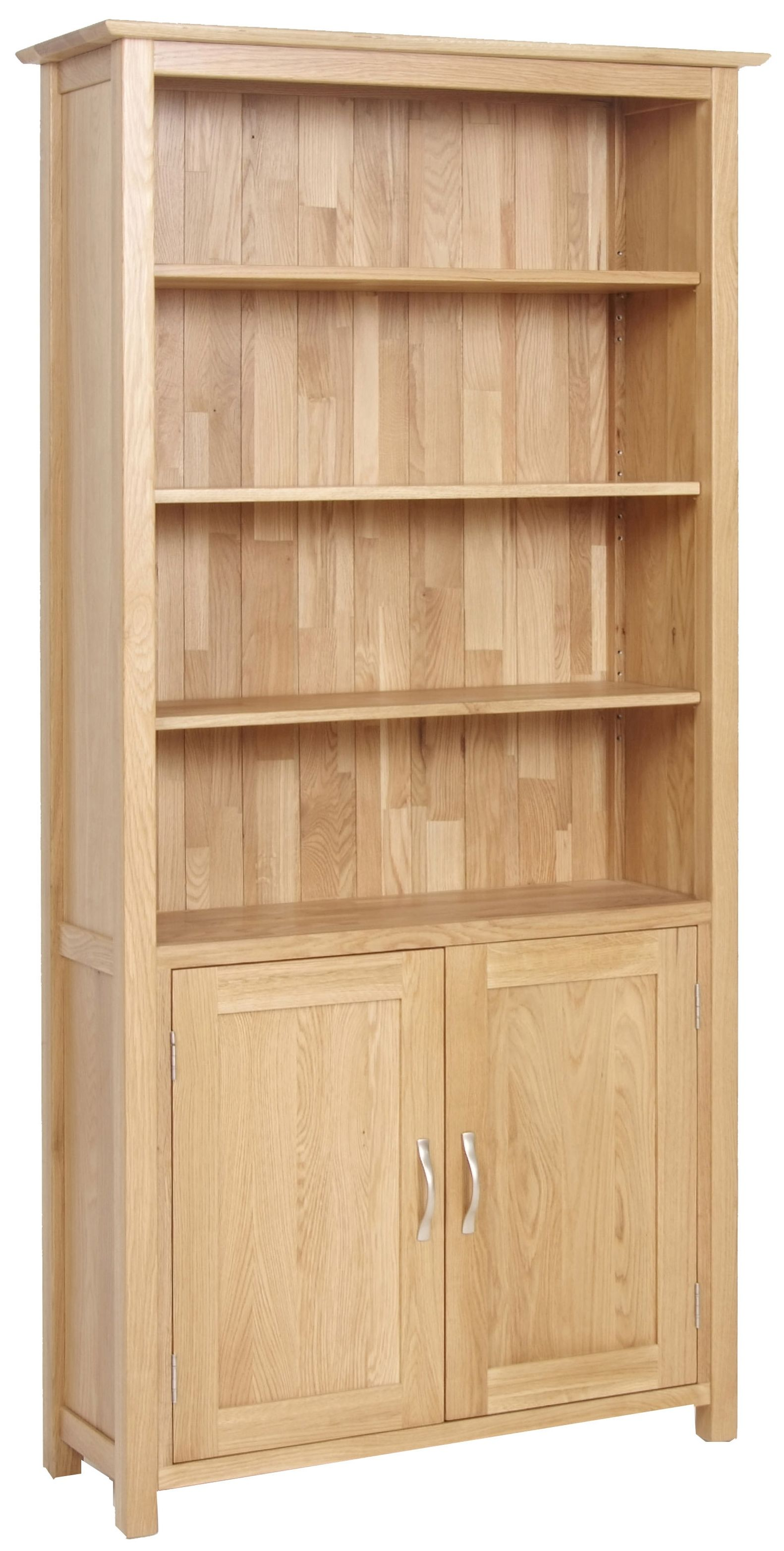 Branches Furniture Bristol Exeter Range 2 Door Light New Oak Bookcase With Doors Bookcase Tall Bookcases Wood Storage Cabinets