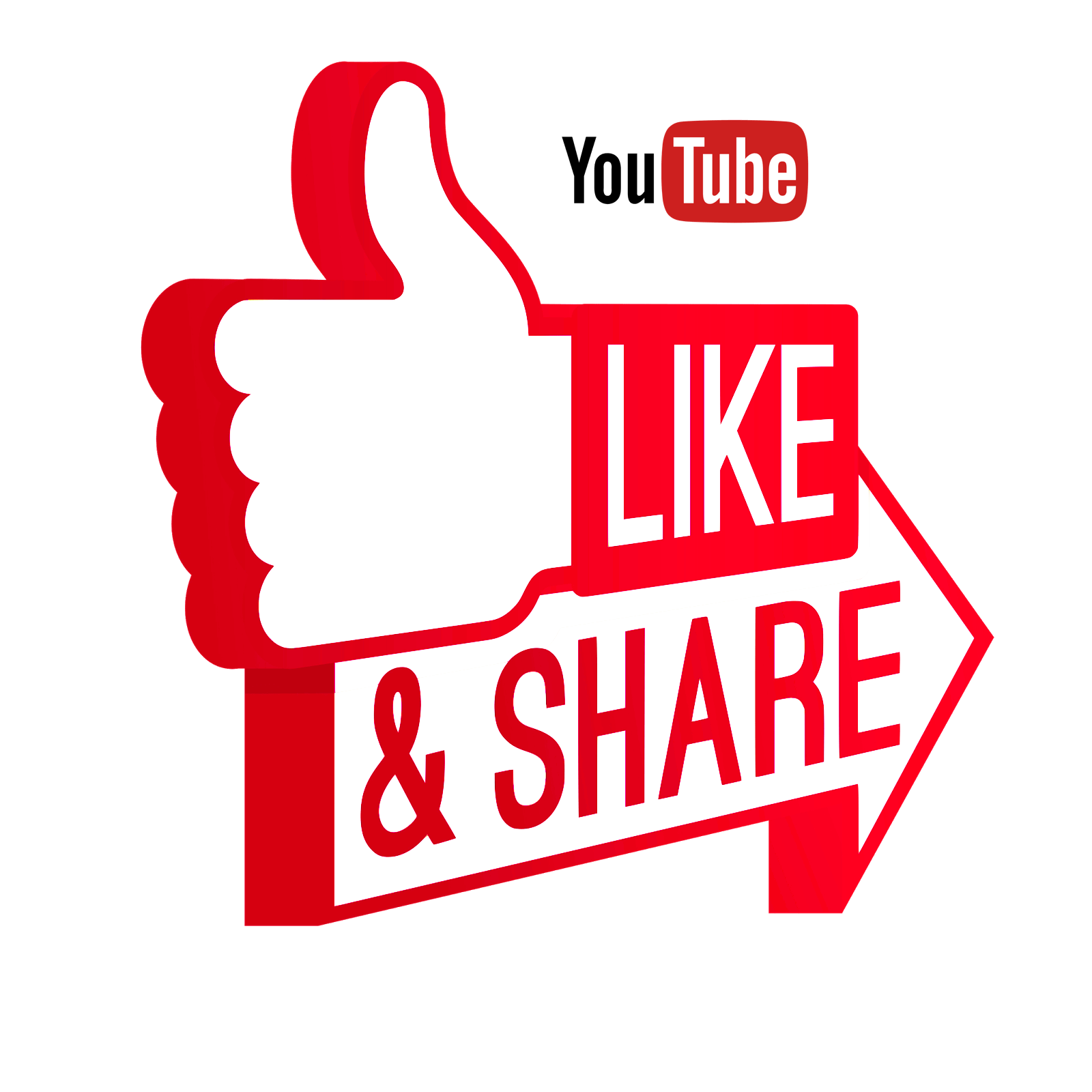 Like and Share on Youtube transparent PNG StickPNG (With