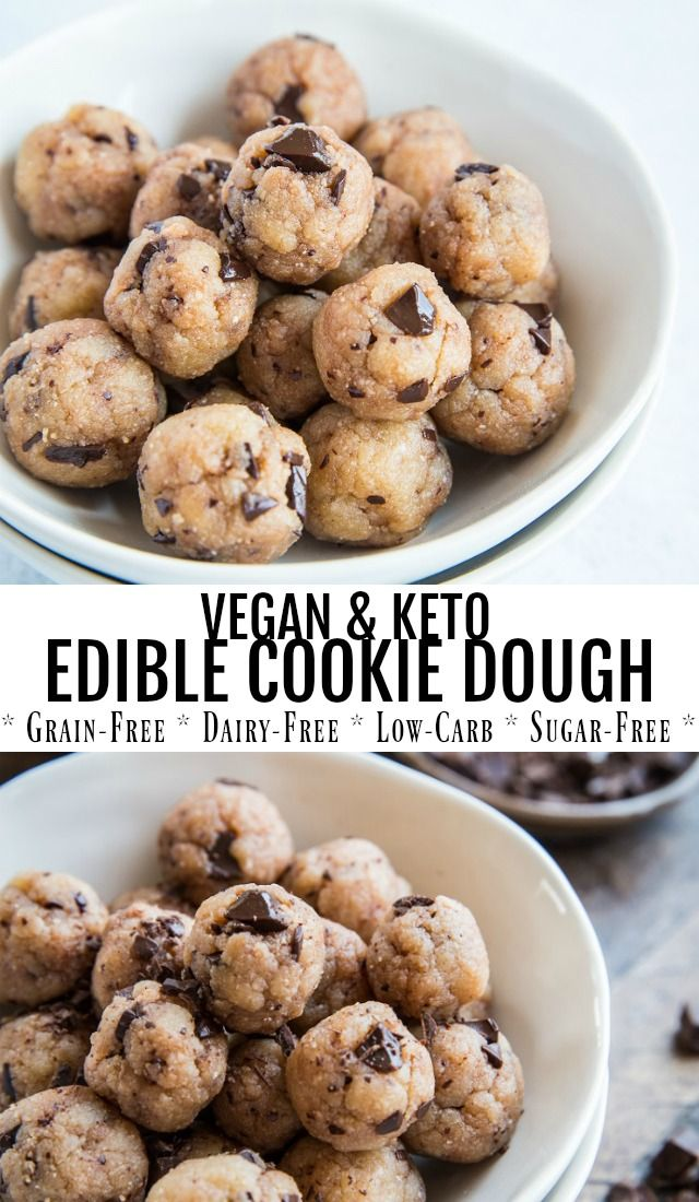 Keto Edible Cookie Dough #healthycookiedough