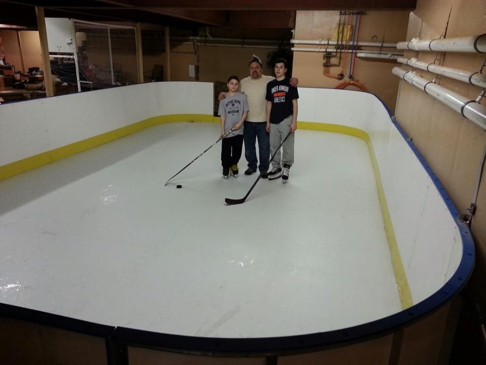 Get Ideas For Your Hockey Training Area. Install Rink Boards And/or Synthetic  Ice. Easy To Setup In The Backyard, Basement, Garage, Deck/Patio Or  Driveway.