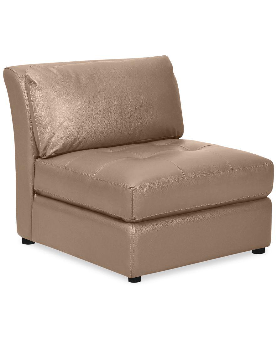 Best Mariella Leather Armless Chair Armless Chair Chair 400 x 300