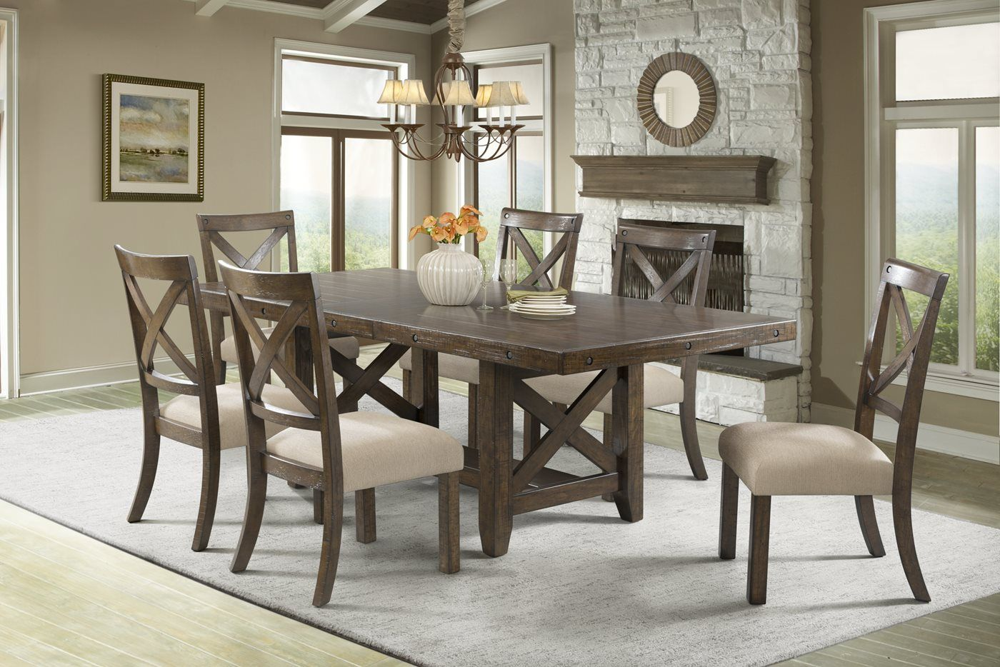 Franklin 5 Piece Dining Set With Images Dinning Room Tables