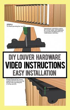 Easy To Follow Diy Louver Hardware Projects Using Flex