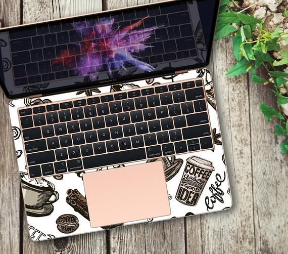 Coffee Vinyl Decal MacBook 2018 Coffee Sticker MacBook Air 13 | Etsy