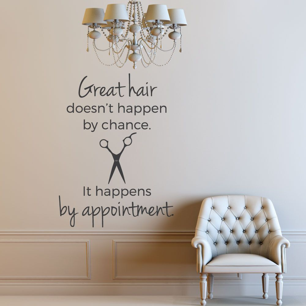 Click The Image To Buy This Hair Salon Wall Decal By Luxe Loft