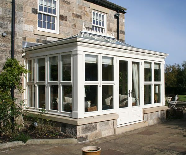 Suppliers Of Bespoke Timber Windows Doors Conservatories And Orangeries For The South East Contemporary Garden Rooms House Exterior Small Conservatory
