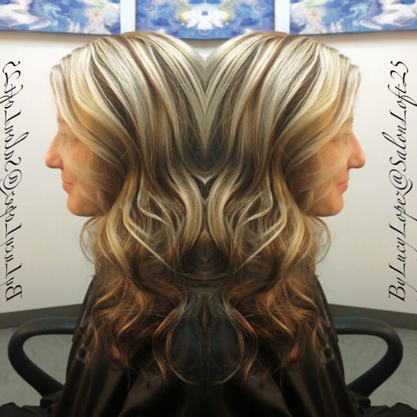 Fall color for blondes.  Smokey blonde/brown by Lucy Lopez Cleveland Ohio