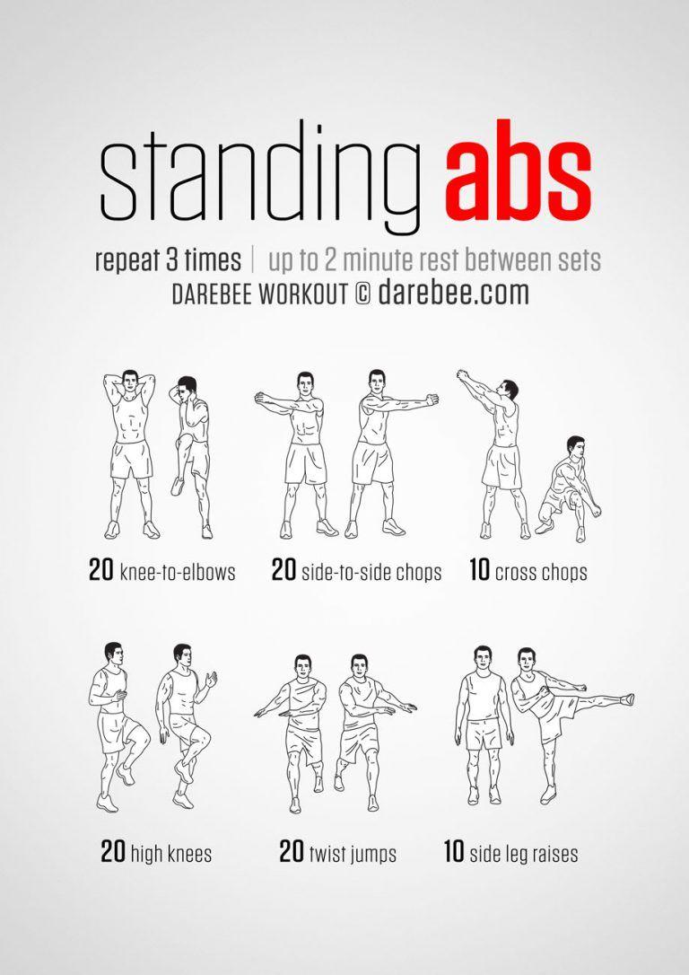 10 Amazing Abdominal Core Workouts By Darebee Standing