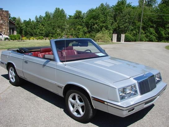 Cars For Sale 1985 Chrysler Lebaron Convertible In Sevierville