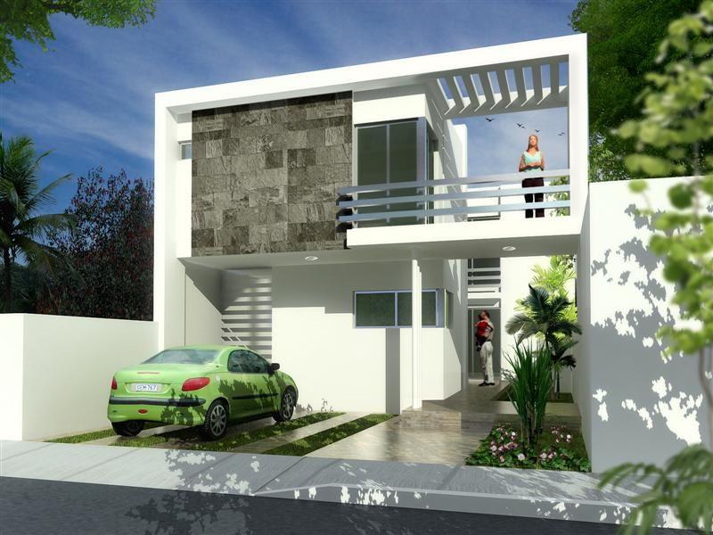 Fachadas de casas modernas fachada contempor nea y semi for Casa de disenadores