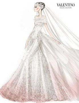 Anne Hathaway Marries In Valentino Wedding Dress Sketches Valentino Wedding Dress Anne Hathaway Wedding