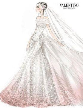 valentino couture wedding dress sketch art that i love pinterest wedding dress sketches. Black Bedroom Furniture Sets. Home Design Ideas