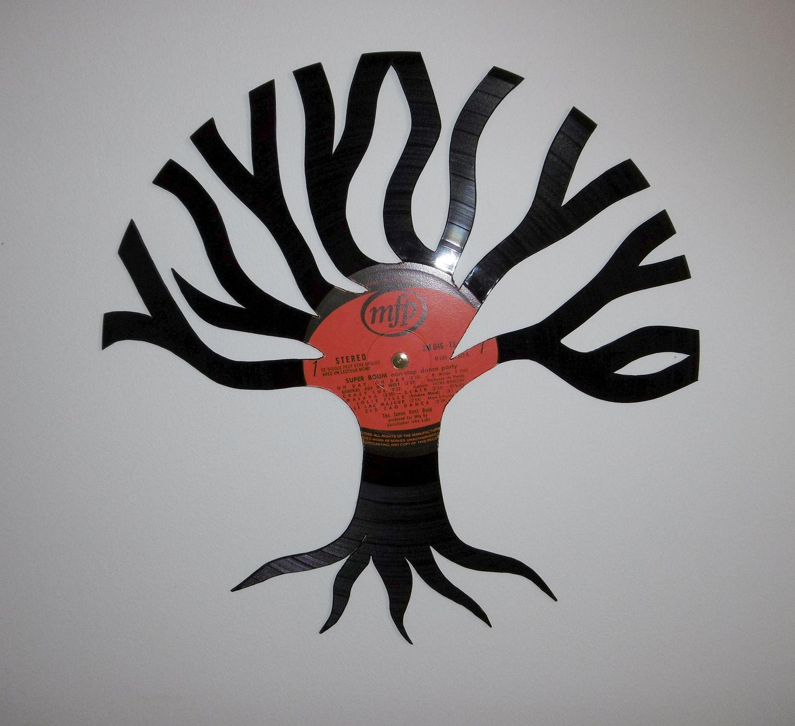 Décoration murale - Disque vinyle 33 tours découpé à la main - Création unique et originale ! : Décorations murales par tout-en-vinyle